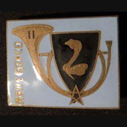 11° RCA : 11° régiment de chasseurs d'Afrique Arthus Bertrand (poinçon) en émail gravé n° 862 (L 8)
