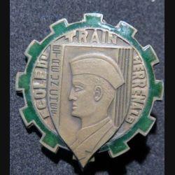 ECOLE TRAIN : Insigne métallique de l'école du train Herrenalb de fabrication Drago Béranger en émail (L129)