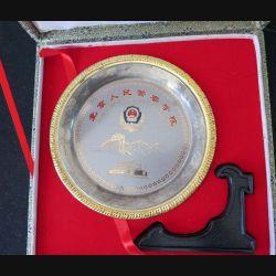 Coupelle métallique de la Police chinoise dans sa boite (C168)