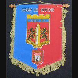 128° RI : fanion du 128° régiment d'infanterie de tissu imprimé (C168)