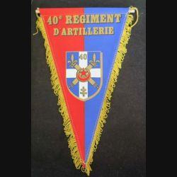 40° RA : fanion du 40° régiment d'artillerie en tissu imprimé (C168)
