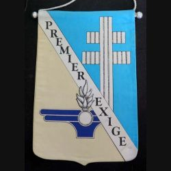 1° RMAT : fanion du 1° régiment du matériel en tissu imprimé (C168)