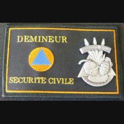 SECURITE CIVILE : insigne tissu et métallique des démineurs de la sécurité civile de fabrication Pichard-Balme Saumur