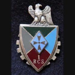 1° RCS :  1° Régiment de Commandement et de Soutien de fabrication DRAGO G. 2606, en relief. (L226)