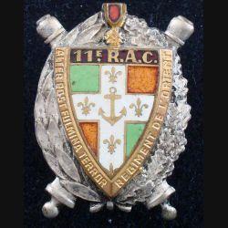 11° RAC : 11° Régiment d'Artillerie coloniale DRAGO BERANGER G 820 en émail bandeau rouge translucide (L 182)