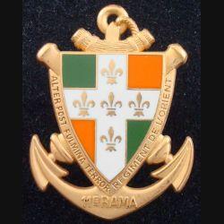 11° RAMa : Insigne métallique du 11° Régiment d'Artillerie de Marine de fabrication BOUSSEMART G 820 (L 182)