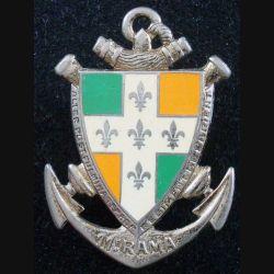 11° RAMa : Insigne métallique du 11° Régiment d'Artillerie de Marine de fabrication DRAGO PARIS G 820