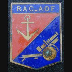 1° RAC : 1° Régiment d'Artillerie coloniale d'Afrique occidentale française AOF en émail (L184)