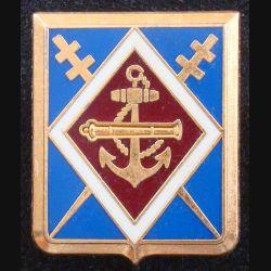 1° RAMa : Insigne métallique du 1° Régiment d'Artillerie de Marine de fabrication ARTHUS BERTRAND