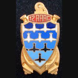 12° RAAC : 12° Régiment d'Artillerie Antiaérienne de Marine en émail (L184)