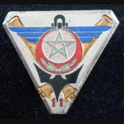 11° GCAA : 11° Groupe Colonial d'Artillerie Antiaérienne en émail de fabrication Courtois (L 182)
