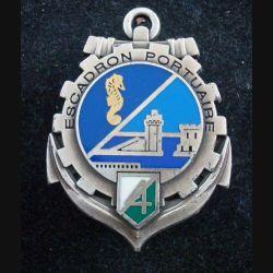 519° RT : Insigne métallique du 4° Escadron Portuaire du 519° Régiment du train PICHARD BALME
