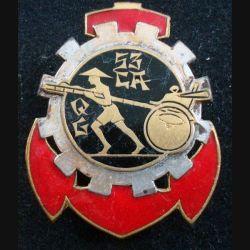 53° CAQG : 53° Compagnie Auto de Quartier Général en Extrême Orient DRAGO BERANGER en émail ajouré (L222)
