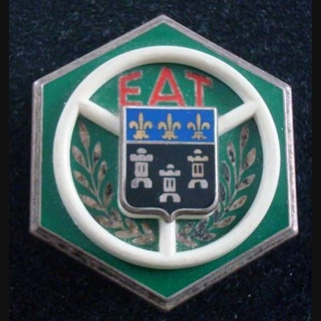 EAT : Insigne métallique de L'Ecole d'Aplication du Train FRAISSE G 972 (L129)
