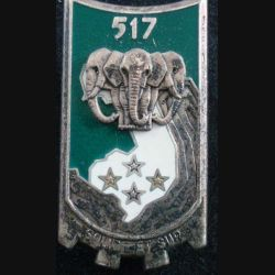 517° RT : Insigne métallique du 517° Régiment du Train FRAISSE G. 2749