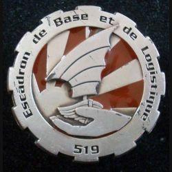 519° RT : Insigne métallique de L'Escadron de Base et de Logistique du 519° Régiment du Train PICHARD BALME