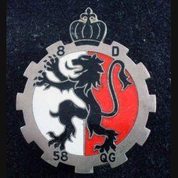 58° CQG : 58° Compagnie de Quartier Général ARTHUS BERTRAND G. 1931 en émail (L227)