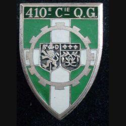 410° CQG : 410° Compagnie de Quartier Général ARTHUS BERTRAND G. 1957 en émail