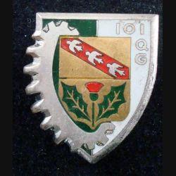 101° CQG : 101° Compagnie de Quartier Général DRAGO PARIS G. 2095 en émail attache cassée (L 105)