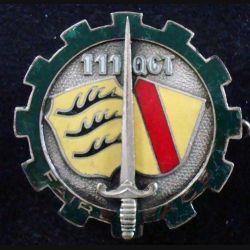 111° QGT : 111° Compagnie de Quartier Général du Territoire AREMAIL G. 1388 en émail (L228)