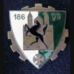 186° QG : 186° Compagnie de Quartier Général et de Transport MARDINI G. 993 en émail (L 105)