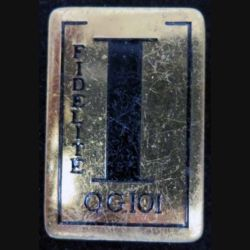 101° QG : Insigne métallique de la 101° Compagnie Quartier Général en émail