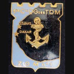 1° CQG TDM ZOM N°1: 1° Compagnie de Q.G des TDM de fabrication DRAGO PARIS G. 1585 en émail (L 213)