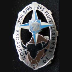 2° RCS : Insigne métallique de l'Escadron de Transport du Bataillon Français de Soutien IFOR A. BERTRAND
