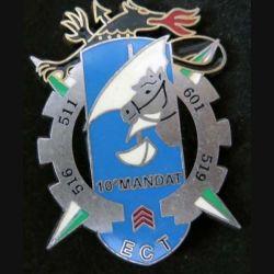 ECT : Insigne métallique de l'Escadron de Circulation et Transport SFOR DELSART (L129)