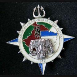 517° RT : Insigne métallique de l'Escadron de Circulation Routière Bataillon français 11 KFOR Delsart (L112)