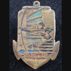 27° BMTS : Insigne métallique du 27° Bataillon de Marche de Tirailleurs Sénégalais fabrication artisanale (L178)