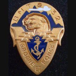 32° BMTS : Insigne métallique du 32° Bataillon de Marche de Tirailleurs Sénégalais ARTHUS BERTRAND G. 1040 (179)
