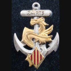 24° RTS : Insigne métallique du 24° Régiment de Tirailleurs Sénégalais DRAGO PARIS-NICE (175)