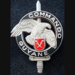 CEC 3° REI : insigne du Centre d'Entrainement Commando Guyane du 3° Régiment Etranger d'Infanterie de fabrication DRAGO (L1)