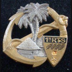 1° RTS : Insigne métallique du 1° Régiment de Tirailleurs Sénégalais DRAGO PARIS Déposé peint (175)