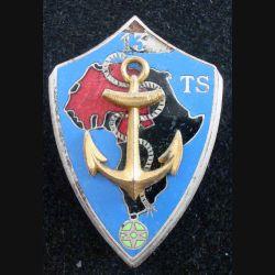 13° TS : Insigne métallique du 13° Tirailleurs Sénégalais DRAGO BERANGER H. 650 (L174)