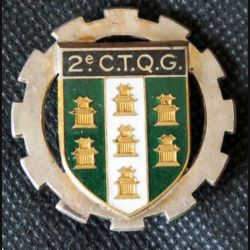 2° CTQG : 2° Compagnie deTransport de Quartier Général DRAGO ROMAINVILLE en émail (L108)