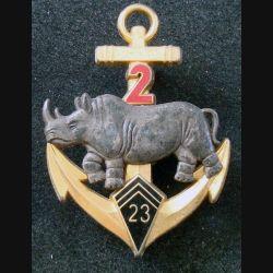 23° BIMa : 2° Escadron du 23° Bataillon d'Infanterie de Marine FRAISSE numéroté 85