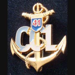 41° BIMa : Insigne métallique de la CCL du 41° Bataillon d'Infanterie de Marine de fabrication PICHARD BALME