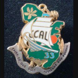 33° RIMA : Insigne métallique CCAL du 33° Régiment d'Infanterie de Marine de fabrication Fraisse en relief
