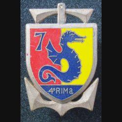 4° RIMA : 7° Cie du 4° Régiment d'Infanterie de Marine de fabrication Fraisse