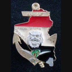 3° RIMA : Insigne métallique de la 1° Cie Opération DAGUET du 3° Régiment d'Infanterie de Marine fabrication FIA (L202)