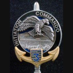 3° RIMA : Insigne métallique Commando Initiation du 3° Régiment d'Infanterie de Marine Boussemart (L202)