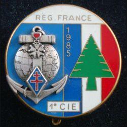 1° RIMA : 1° Cie LIBAN 85 du 1° Régiment d'Infanterie de Marine de fabrication Fraisse