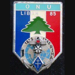 1° RIMA : 1° Régiment d'Infanterie de Marine FINUL 1985 de fabrication Delsart (L 196)