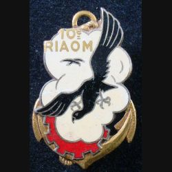10° RIAOM : Insigne métallique du 10° Régiment Inter Armes d'Outre Mer Drago G. 1643 émail (L185)