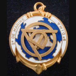 2° RIMA : Insigne métallique du DAO du 2° Régiment d'Infanterie de Marine Type 2 Fraisse