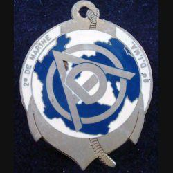 2° RIMA : Insigne métallique du DAO du 2° Régiment d'Infanterie de Marine Arthus Bertrand (L201)
