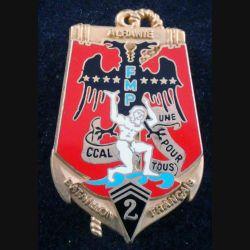 2° RIMA : Insigne métallique de la CCAL du 2° Régiment d'Infanterie de Marine Albanie 97 Arthus Bertrand numéroté 100 (L201)