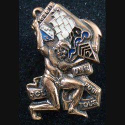 2° RIMA : Insigne métallique de la CCL du 2° Régiment d'Infanterie de Marine bronze numéroté A 234 (L201)